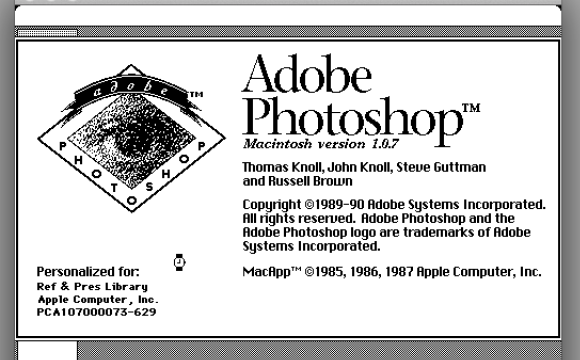 Photoshop 1.0 – Back to the future